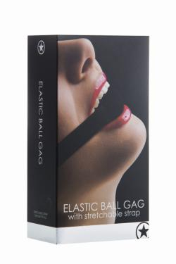 Кляп-шарик Elastic  Ball Gag Ouch! OU120BLK